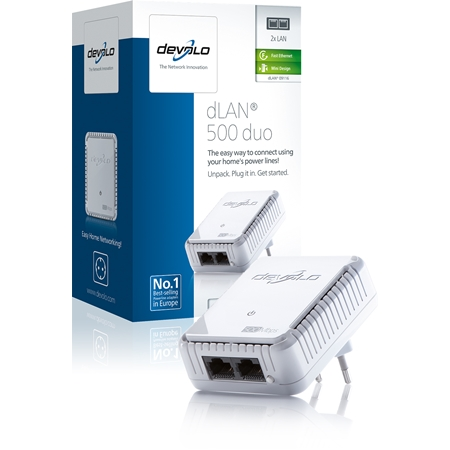Devolo dLAN 500 Duo Geen WiFi 500 Mbps powerline uitbreiding