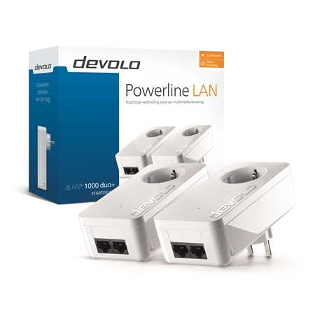 Devolo dLAN 1000 duo+ 1000 Mbps Powerline adapters