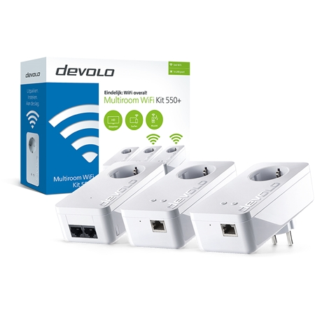 Devolo dLAN 550+ Multiroom WiFi 550 Mbps powerline 3 adapters