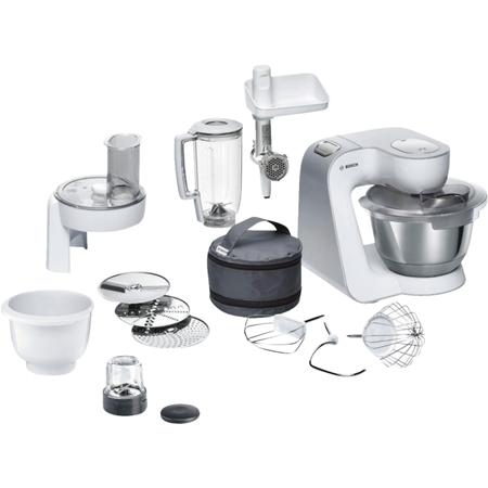 Bosch MUM58257 wit-zilver