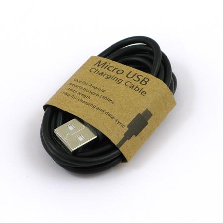 GrabnGo Micro USB laadkabel 1 meter zwart
