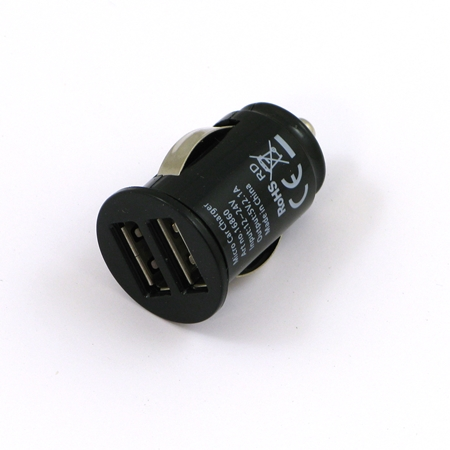 GrabnGo USB autolader 2x USB zwart