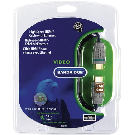 Bandridge BVL1205 HDMI-kabel met ethernet (5 meter)
