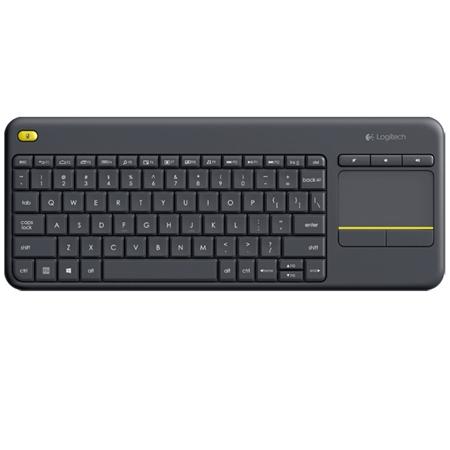 Logitech K400 Plus Wireless Touch Keyboard Zwart