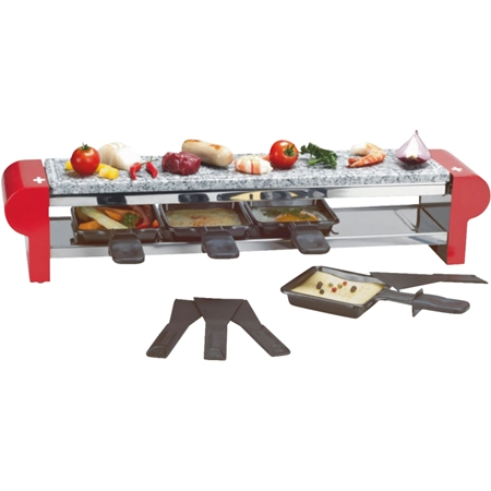 Fritel Raclette Party Grill Swiss Cross