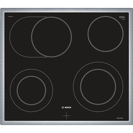 Bosch NKH645GA1M (keramische kookplaat tbv inbouwfornuis) zwart-RVS