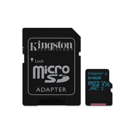 Kingston Canvas Go 64GB Micro-SDHC Card