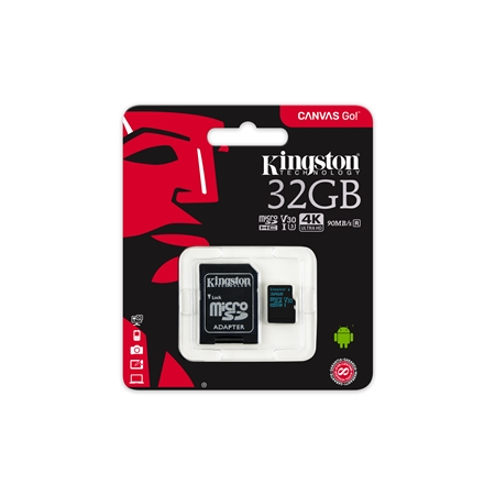 Kingston Canvas Go 32GB Micro-SDHC Card