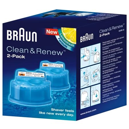 Braun Clean en Renew CCR2 reinigingsvloeistof (2 stuks)