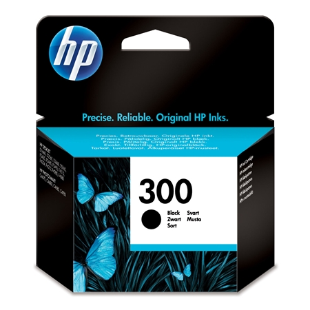 Hewlett Packard HP 300 ink black zwart