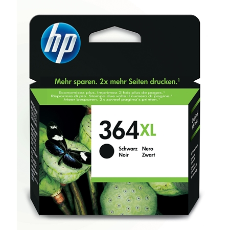 Hewlett Packard Ink HP CN684EE No. 364 BK HC zwart