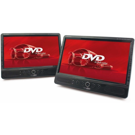 Caliber MPD2010T Portable DVD-speler met twee schermen
