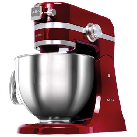 AEG KM 4000 ULTRAMIX rood-edelstaal Keukenmachine