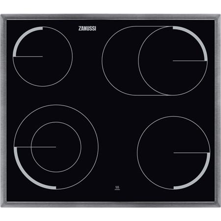 Zanussi ZEV6046XBA keramische kookplaat t.b.v. inbouwfornuis