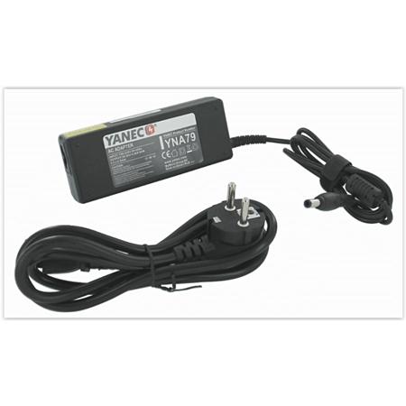 Yanec Laptop AC Adapter 90W (voor Lenovo,Fujitsu Siemens) zwart