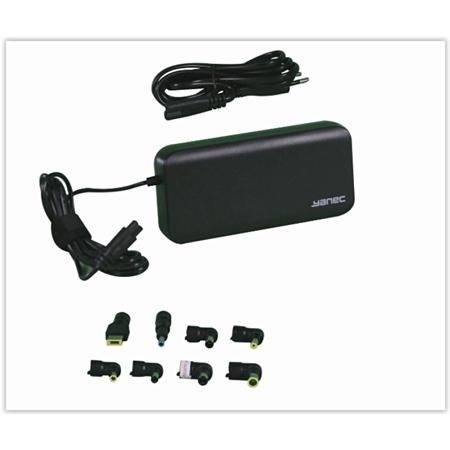 Yanec Universele Laptop AC Adapter 90W met 8 tips zwart