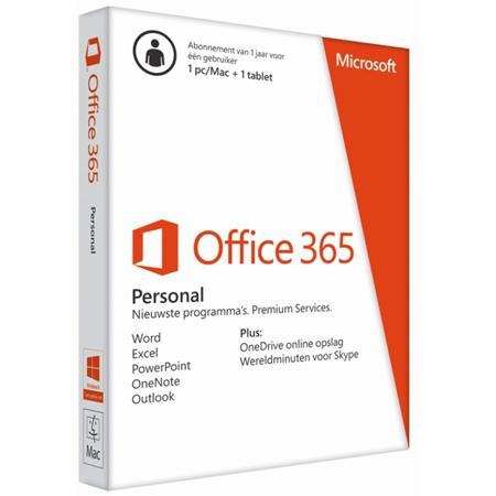 Microsoft Office 365 1 PC of Mac 1 jaar (download)