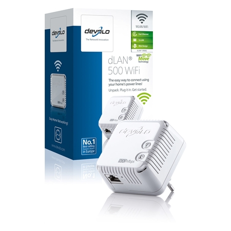 Devolo dLAN 500 WiFi 500 Mbps Powerline adapter