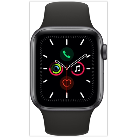 Apple Watch Series 5 44mm - Black Sport Band Space Gray