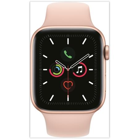 Apple Watch Series 5 44mm - Rose Sport Band goud