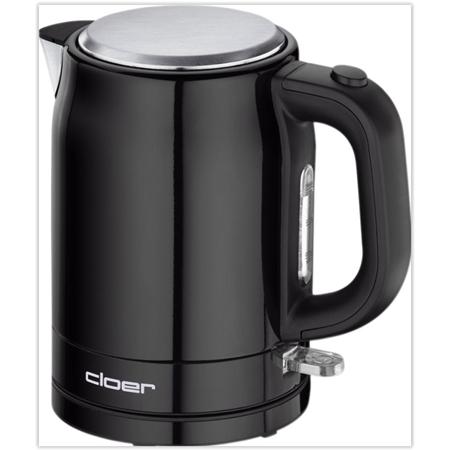Cloer Waterkoker 4510 1L zwart-RVS