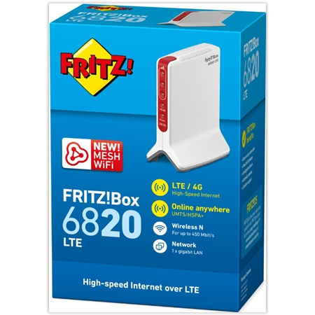 AVM FRITZ!Box 6820 LTE v2 International wit-rood