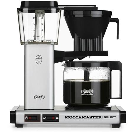 Moccamaster KBG Select Matt Silver koffiezetapparaat