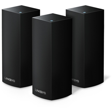 Linksys WHW0303B Velop Mesh WiFi System tri-band triple pack zwart