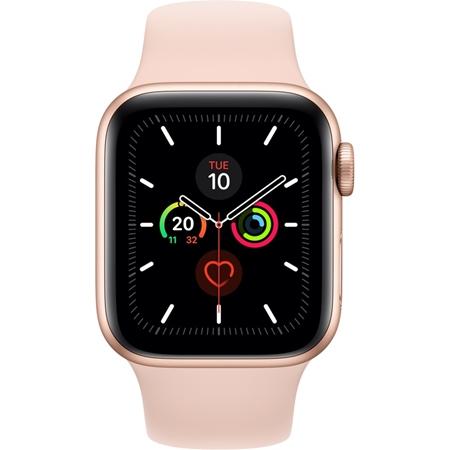 Apple Watch Series 5 44mm rosegoud met roze band