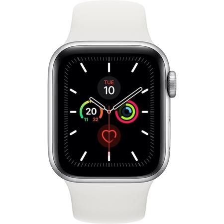 Apple Watch Series 5 40mm zilver met witte band