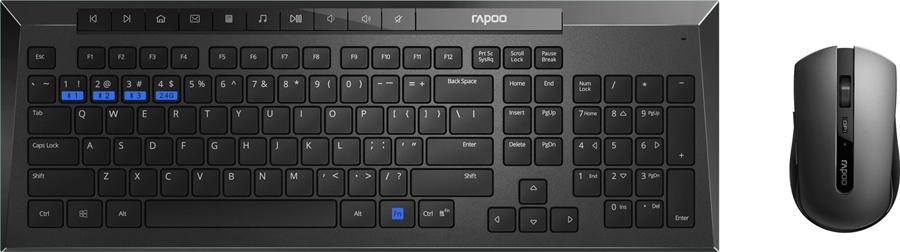 Rapoo 8200M Draadloze combo - in PC-Accessoires