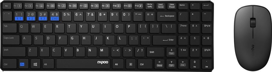 Rapoo 9300M Draadloze combo - in PC-Accessoires