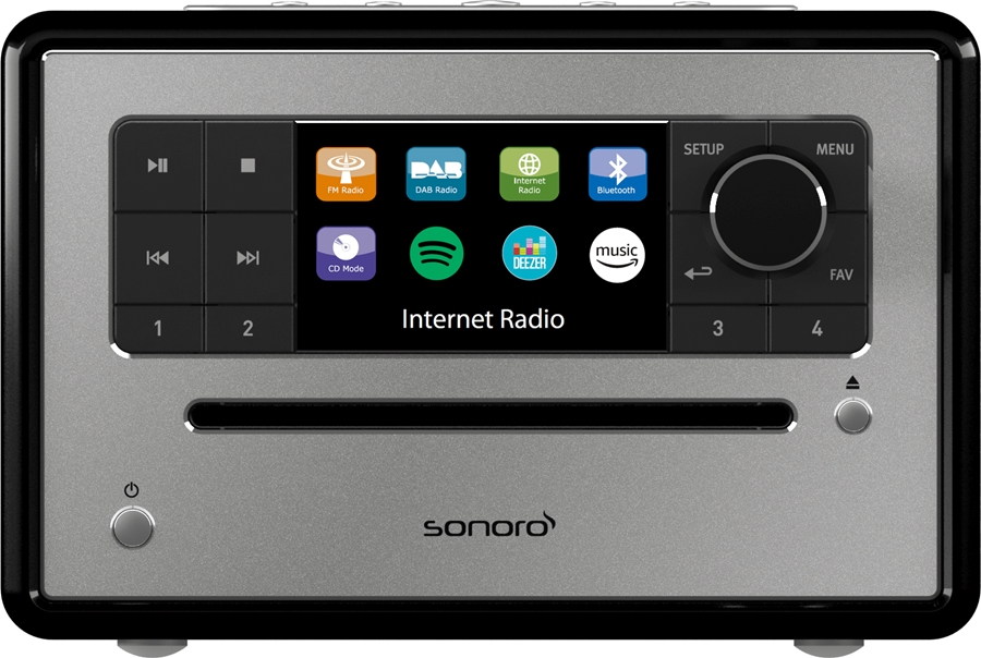 Sonoro Elite V2 Internetradio met DAB+ - in Radio's