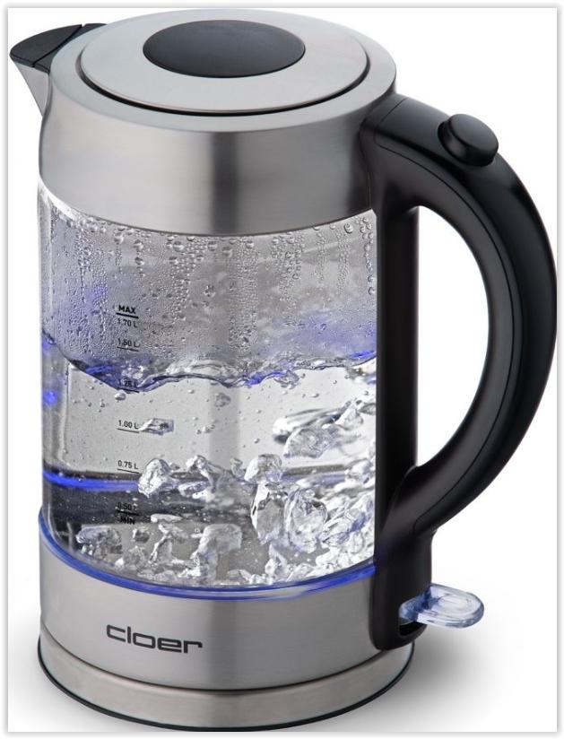 Cloer Waterkoker 4429 RVS-glas - in Waterkokers