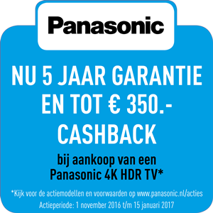 Panasonic TV cashback en garantie