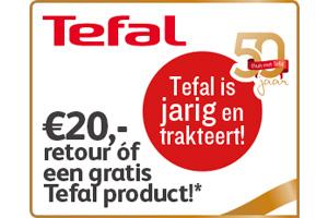 Tefal 20,- euro cashback